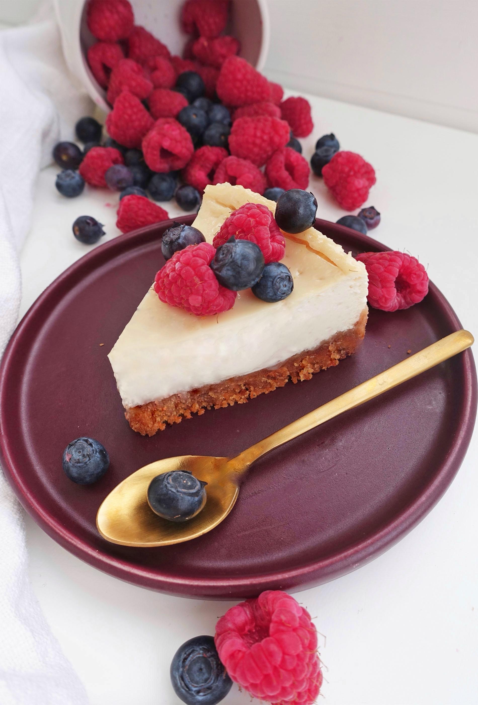 Vegansk bakad cheesecake