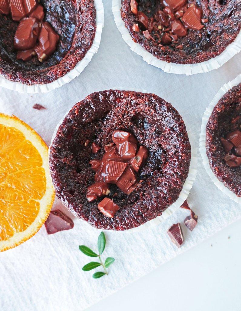 veganska kladdiga chokladmuffins
