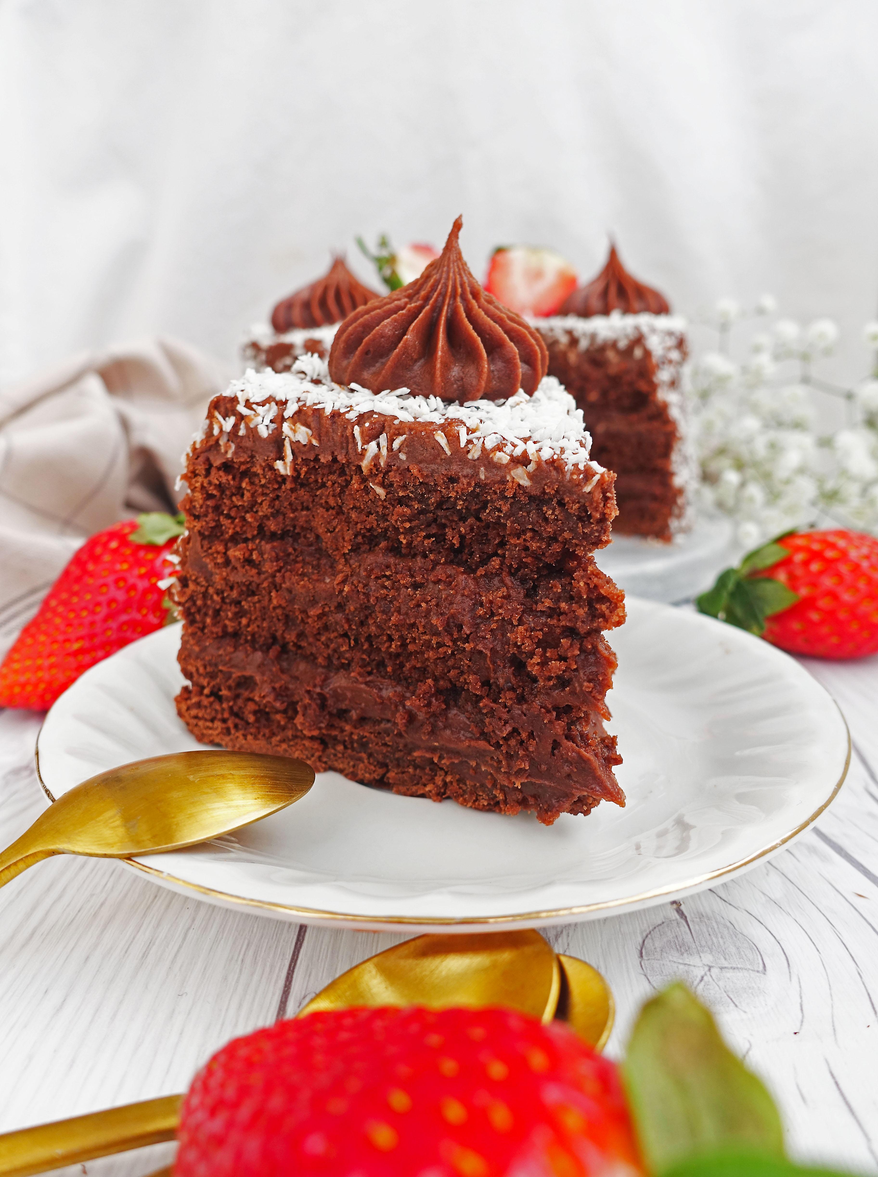 Vegansk kärleksmumstårta