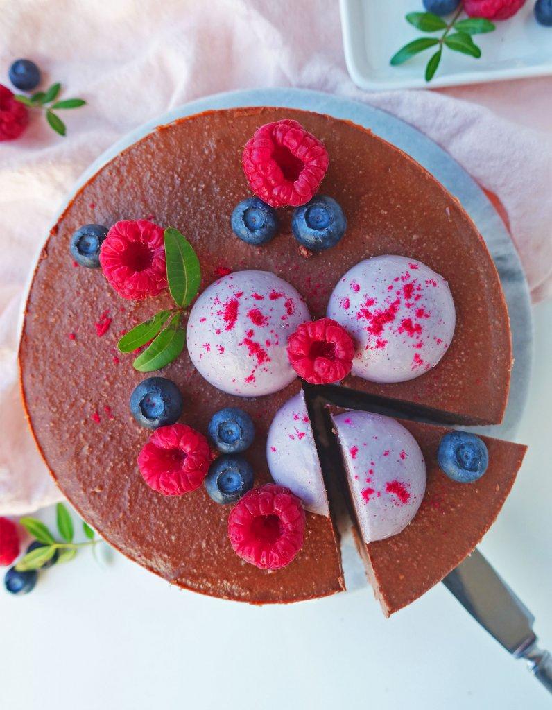 raw chokladtårta