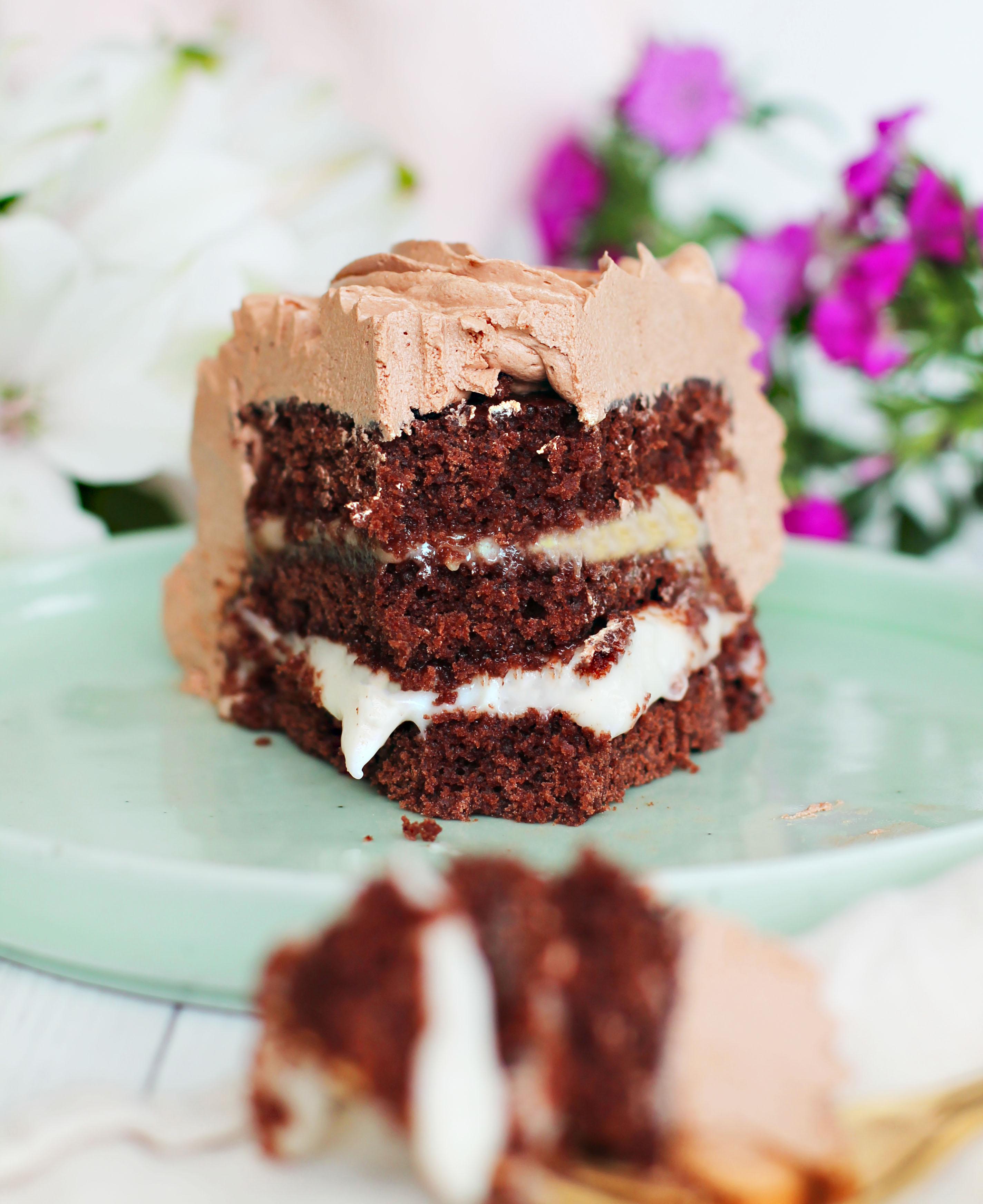 banan choklad tårta