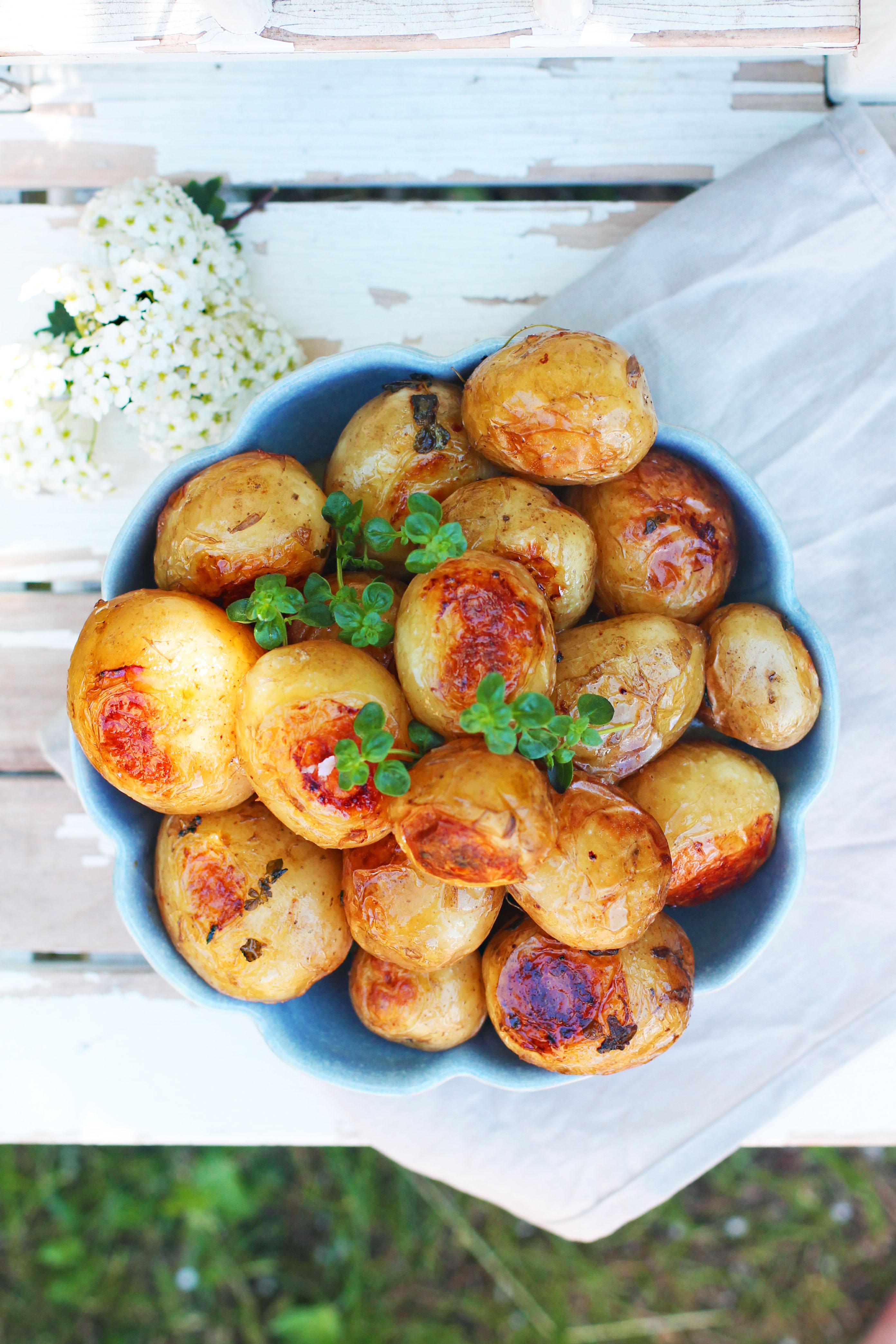 ugnsrostad potatis timjan
