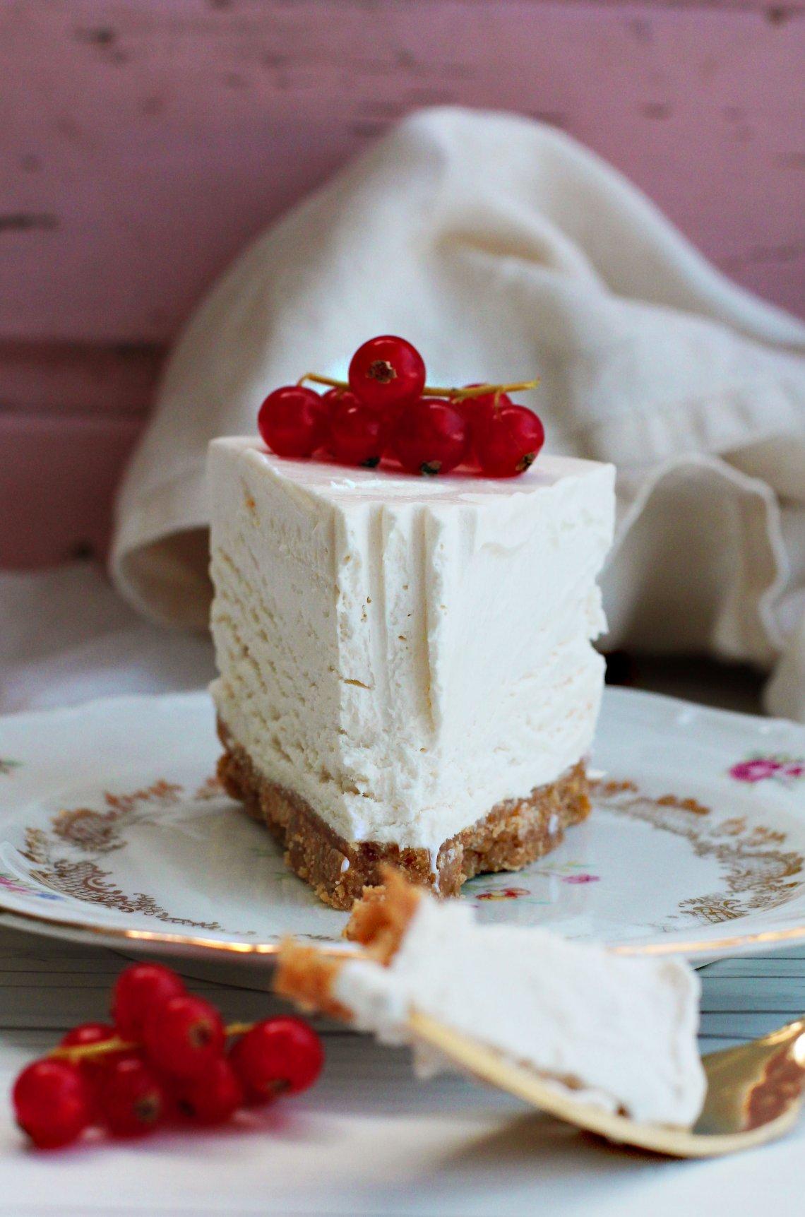 vegansk cheesecake vit choklad
