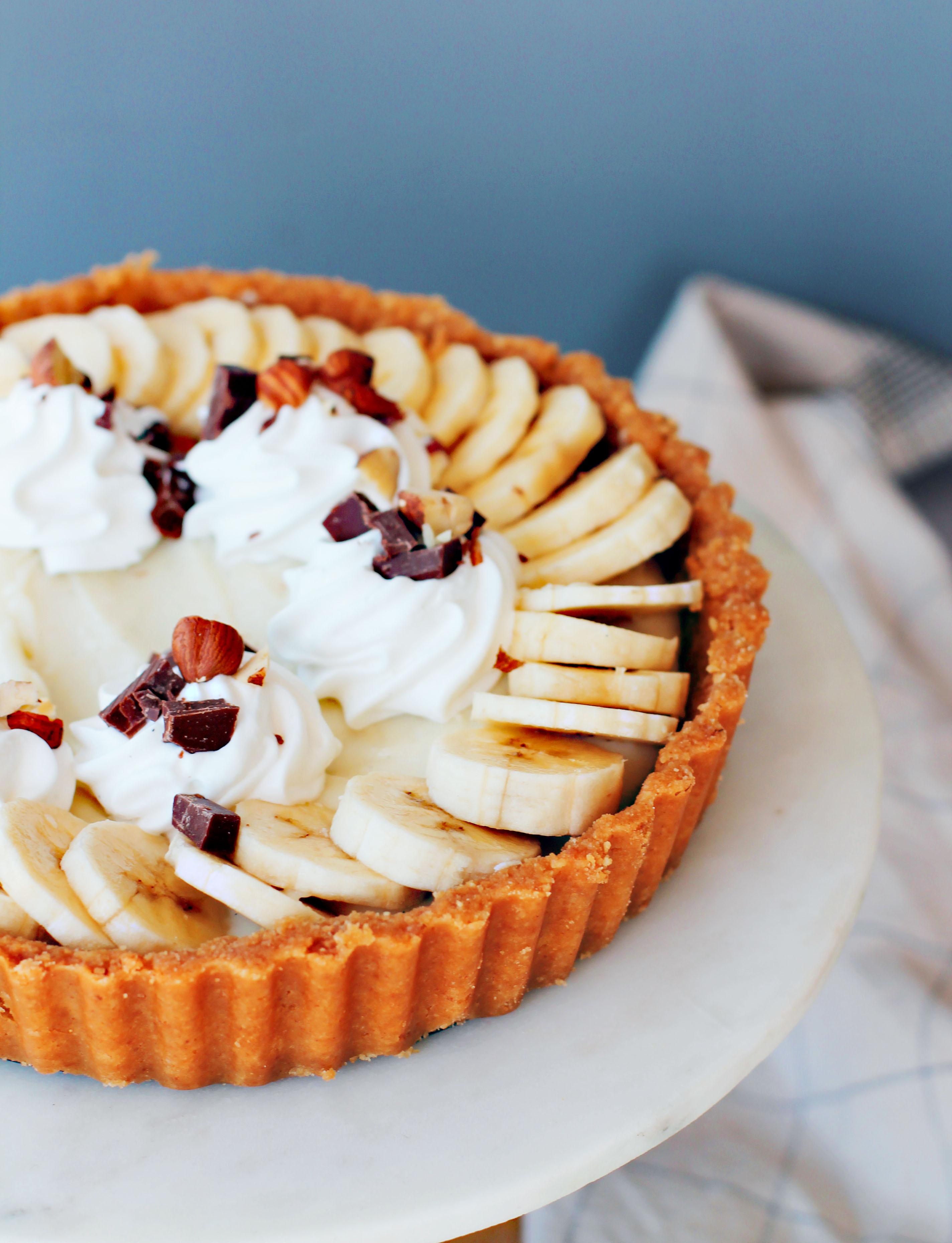 vegansk banana cream pie recept