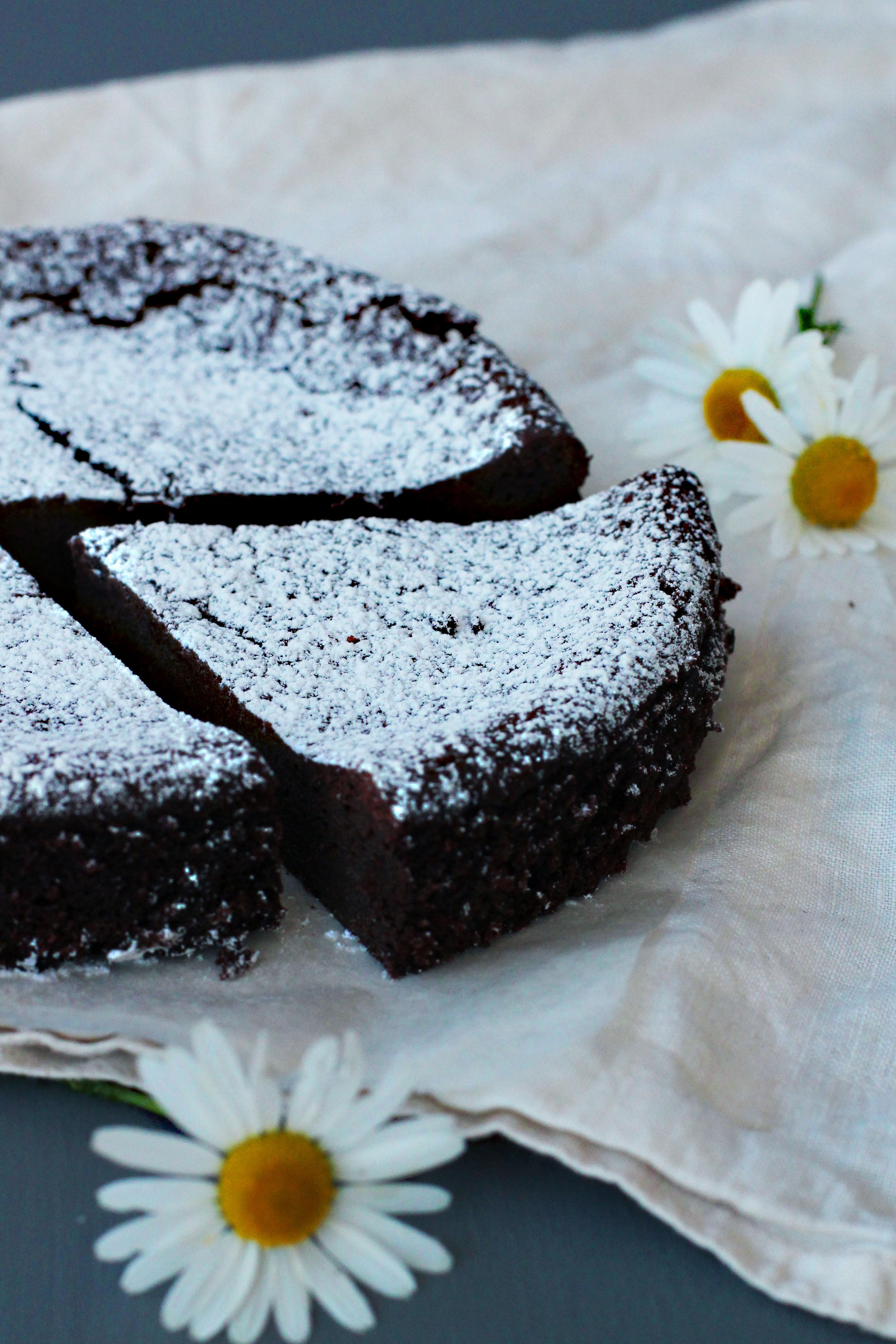 vegansk glutenfri chokladtårta