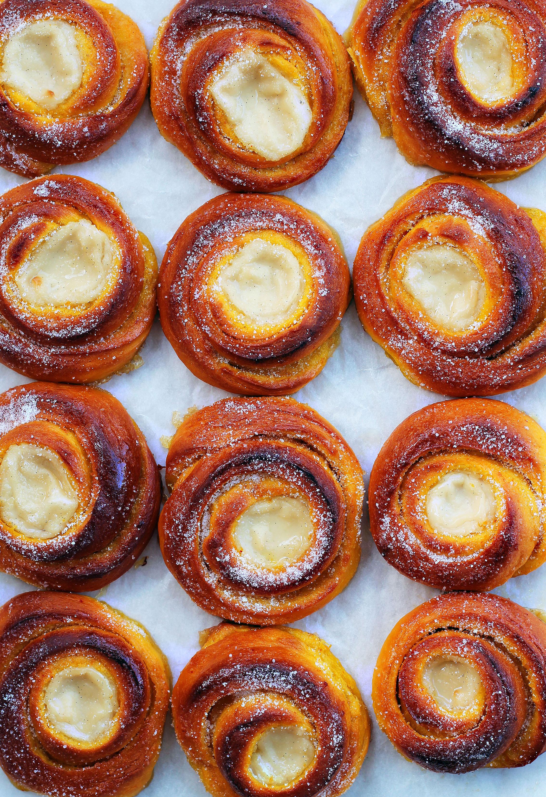 saffransbullar med apelsin och vanilj